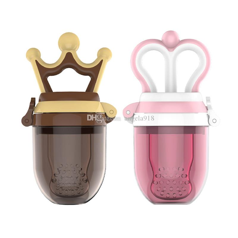 Lovely baby Pacifier Princess and prince infant fruit pacifiers Clips Fresh Food Milk Nibbler Feeder newborn Nipple Bottles C4614