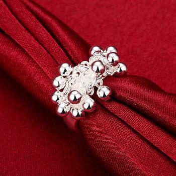 Toptan Satış - Perakende düşük fiyat Noel hediyesi 925 gümüş Yüzük Üzüm yüzük Avrupa ve Amerika gümüş top yüzük takı R016
