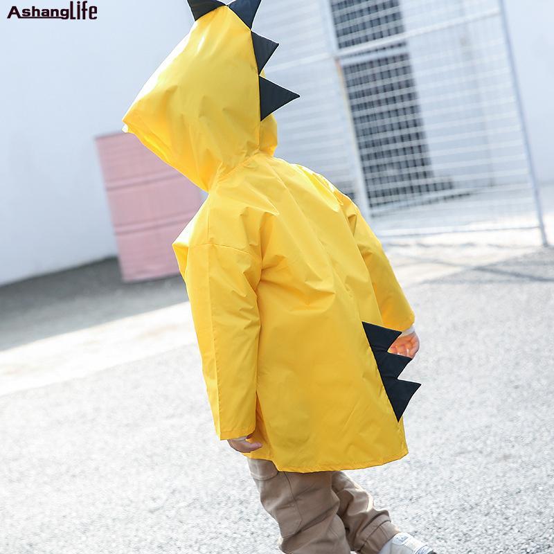 0f875501adc Cute Small Dinosaur Waterproof Polyester Rain Coat Boy Children Girls  Windproof Poncho Kindergarten Student Baby Raincoat Toddler Raincoat And  Rain Boots ...