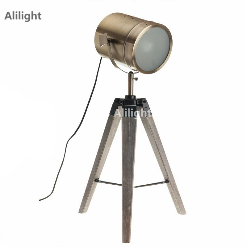 2019 Retro Royal Air Force Wood Tripod Table Search Light Lantern