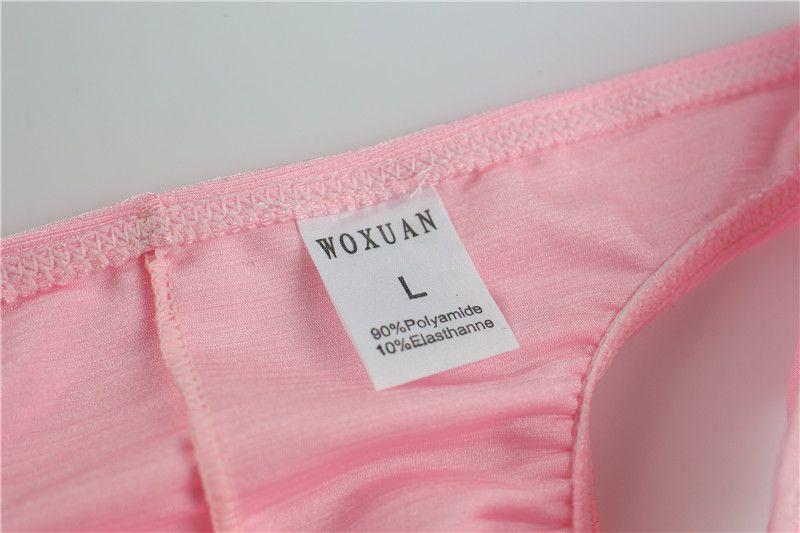 Nylon Hommes Ice Silk Bikini Sous-Vêtements Mens String Sans Couture Culotte Respirant Faible Taille U Poche Convexe Cueca Mens Sous-Vêtements String