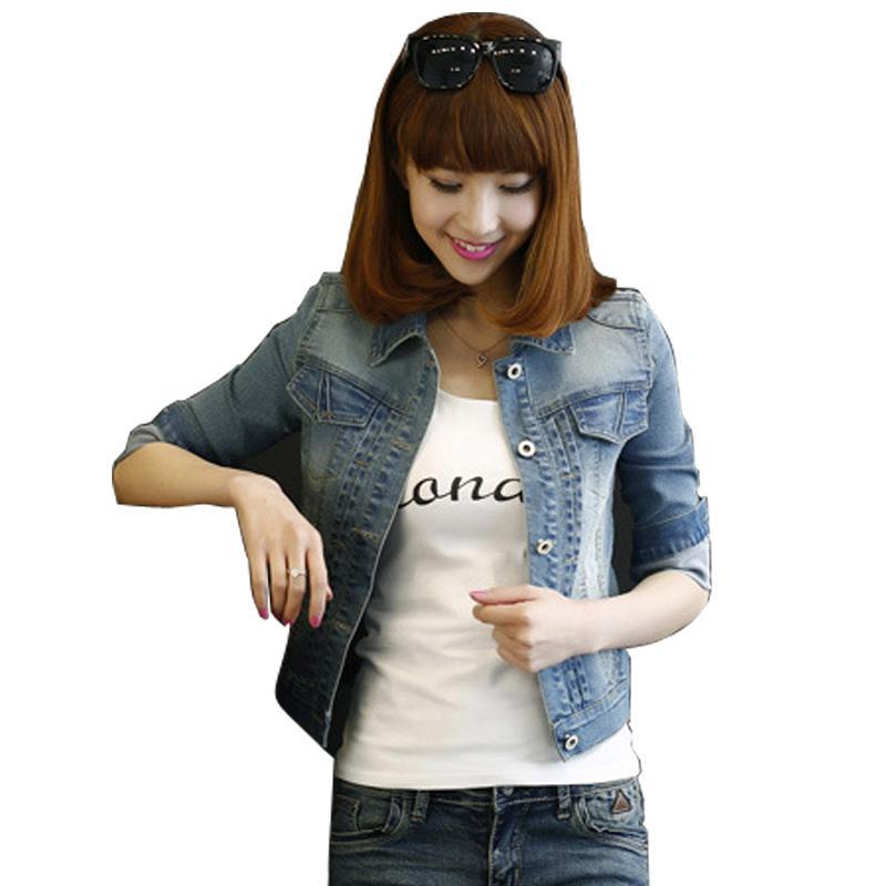 a6f746d532 2018 Plus Size S 5XL Denim Jacket Women Long Sleeve Jeans Jacket Coats  Wamen Outerwear Harajuku Vintage TT63 Bomber Jacket Coat From Elizabethy