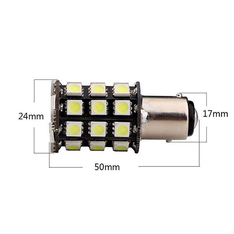 P21W 1156 BA15S 1157 BAY15D LED Bulbs 36 SMD 5050 Turn Signal Reverse Brake Side Light Rear Backup Lamp White
