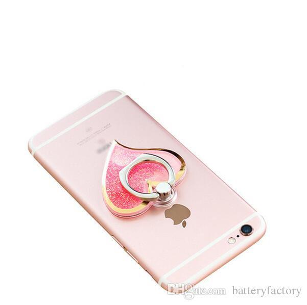 회전 360 액체 손가락 그립 Bling 반짝이 심장 보편적 인 휴대 전화 반지 후크 홀더 iphone 6 7 8 태블릿에 대 한 삼성 태블릿 pc