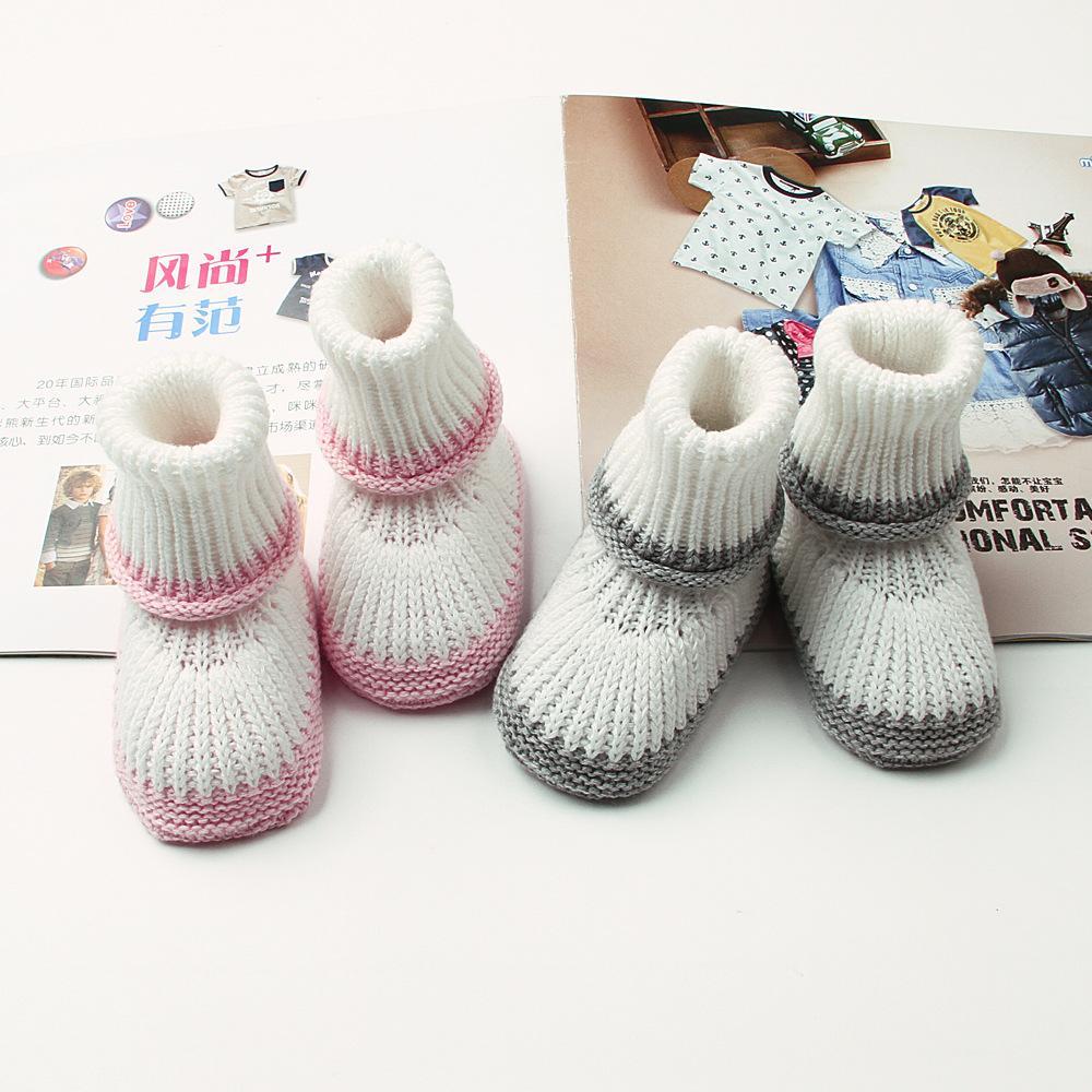 Compre Zapatos Para Bebés Recién Nacidos Lana Para Niños Pequeños ...