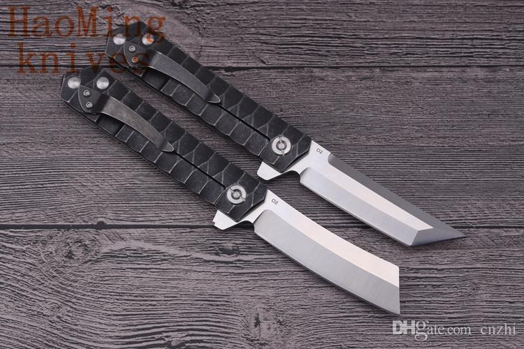 Tático faca dobrável D2 lâmina de aço alça Sistema de rolamento flip camping survival bolso facas de caça ao ar livre ferramentas EDC presente Utensílios de cozinha
