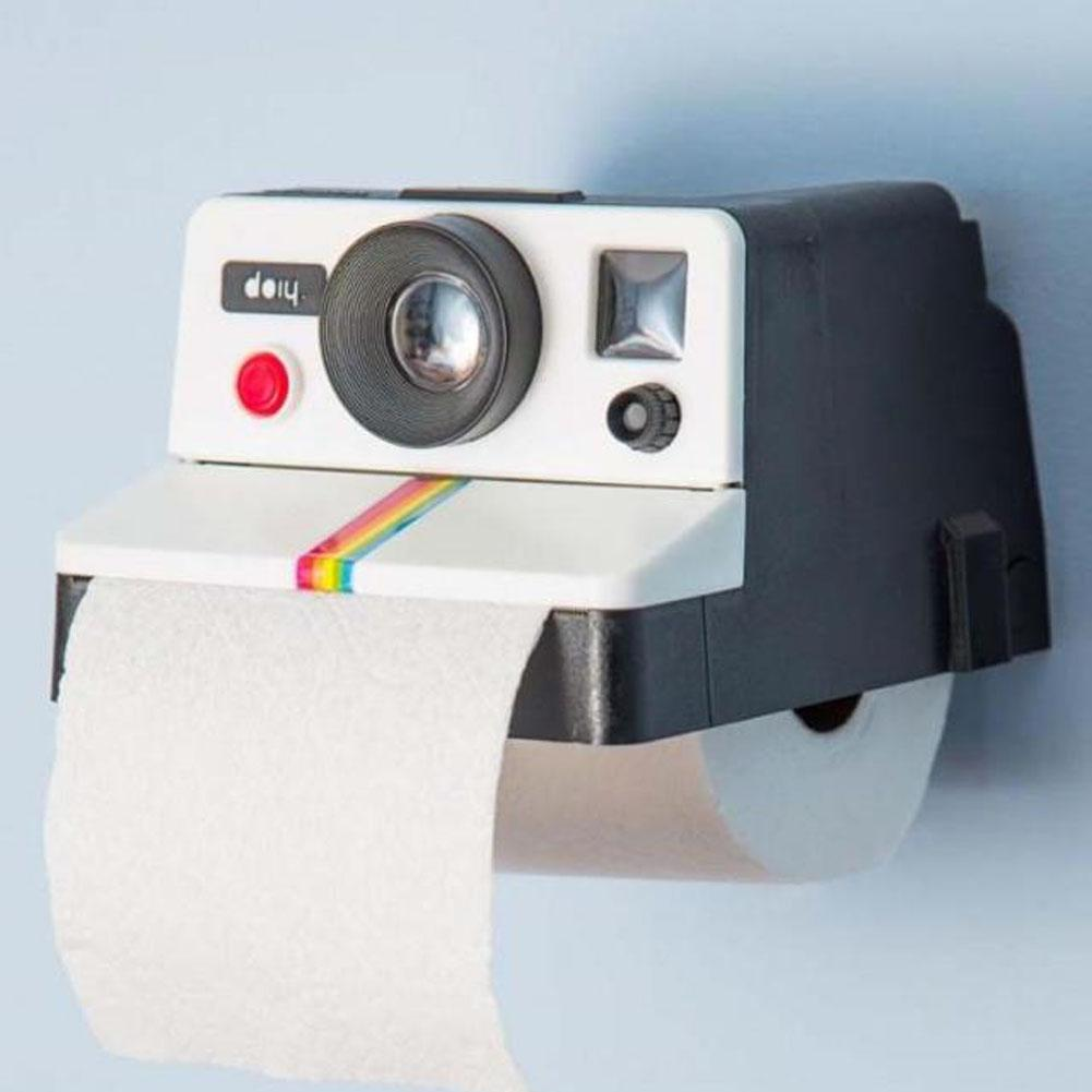1 Piece Creative Retro Camera Shape Inspired Tissue Boxes Toilet Roll Paper Holder Box Bathroom Decor
