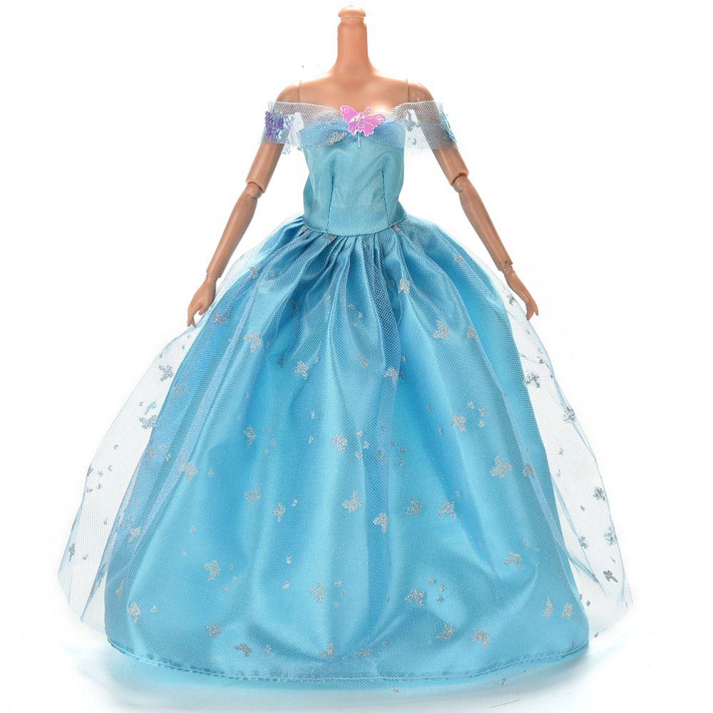 New Fashion Handmade Doll Luxury Floral Dress Elegant Lace Multi ...