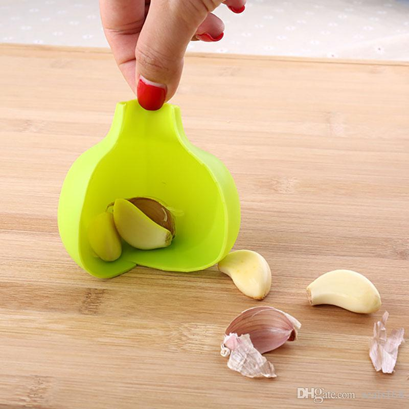سيليكون الثوم مقشرة الإبداعية مطبخ العملية zesters الثوم أداة المنزل سوبر لينة الثوم تقشير جهاز مطبخ أداة HH7-388