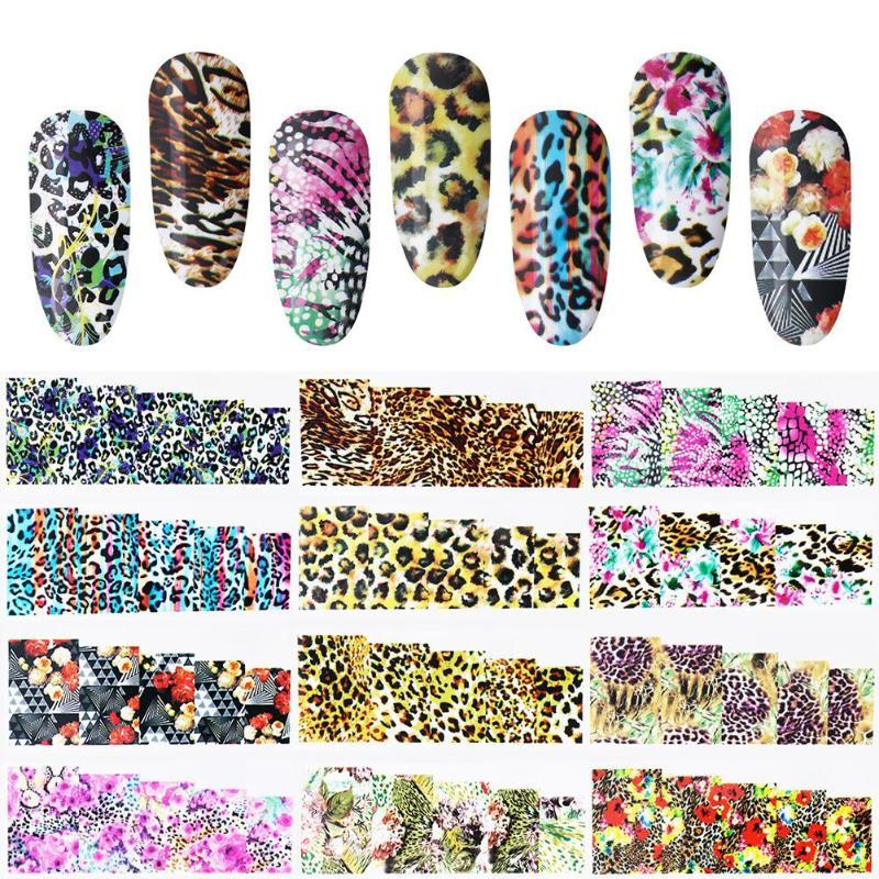 Water Transfer Stickers Leopard Print Nail Art Sticker Full Cover ...