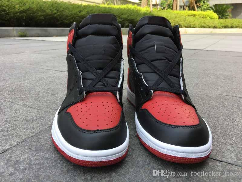 Drop Shipping 1s OG High Banned Bred For Men Basketball Sport Shoes Ship  Ships Out Within 2 Days With Box Basketball Shoes For Kids Basketball Gear  From ... e71e4cce97ae