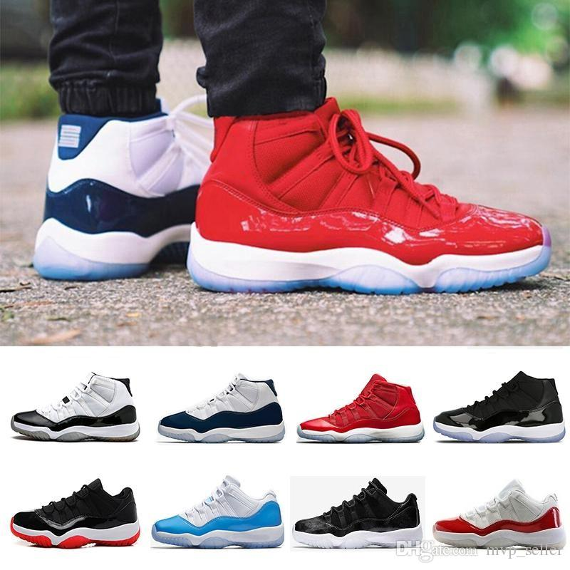 a90dc3dd8a5054 NEW 11 Gym Red Chicago Midnight Navy WIN LIKE 96 UNC Space Jam Mens Basketball  Shoes 11s Sport Sneakers 36 47 Men Basketball Shoes Basket Ball Shoes From  ...