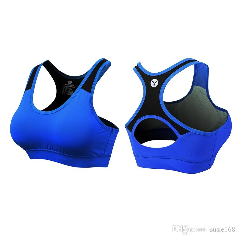 2bd1bef07 2019 2018 Plus Size Sports Bra Women Tanks Breatheable T Shirt Dry Fit Vest  With Padded Comfortable Bras Compression Jersey From Susie168