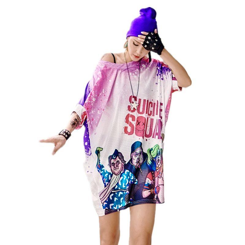 24fd5381dfe 2019 Female Summer Dress O Neck Batwing Sleeve Casual Vestido Hip Hop Fashion  Letter Print Harajuku Loose Plus Size Women Dress Z204 From Yyliang