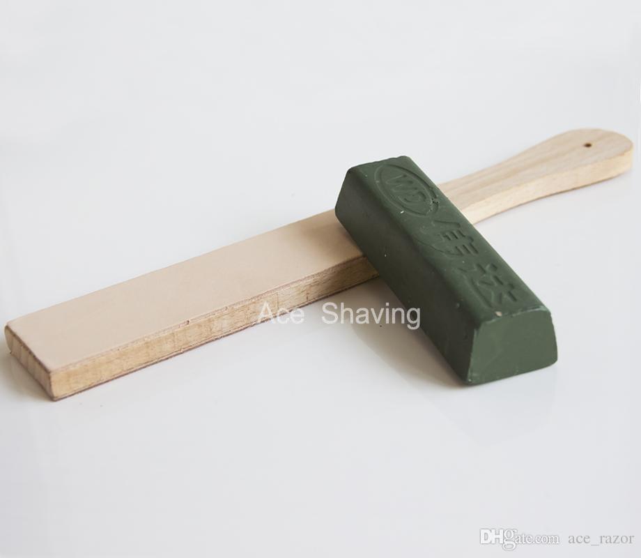 Barber Shaving Razor Kitchen Knife Blade Sharpening Polishing Wax Leather Plate Stone Tool