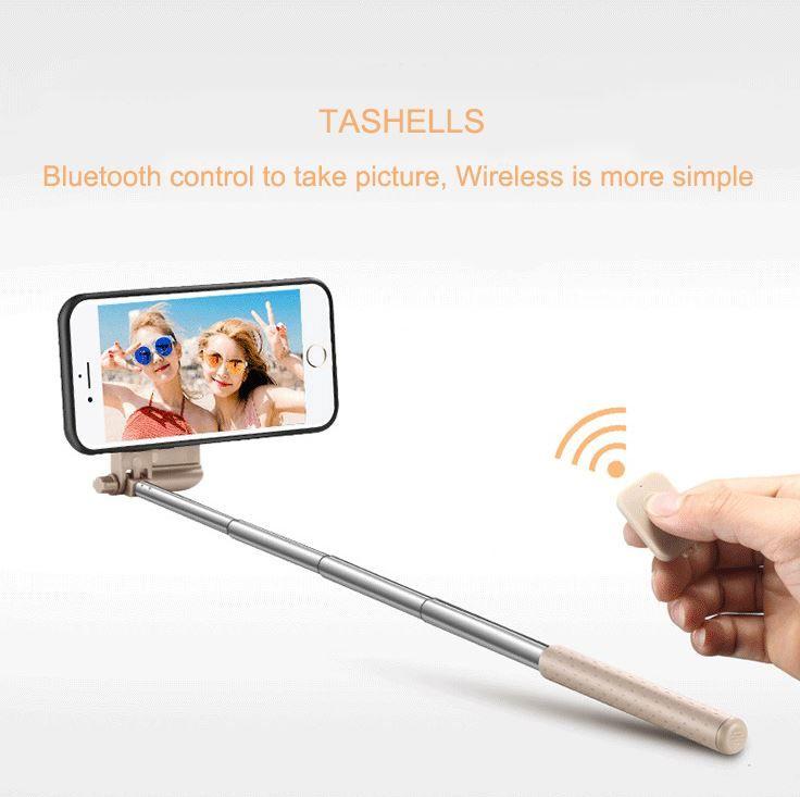 Étui pour téléphone Selfie Stick pour iPhone 7 Couverture pour appareil photo selfie stick Portable Obturateur Bluetooth étirable pliable pour iPhone 8