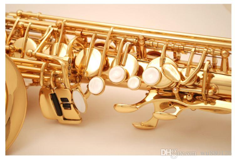 New Arrival SUZUKI Alto Brass Saxophone High Quality Eb Tone Gold Lacquer Sax E-flat Sax With Mouthpiece Case