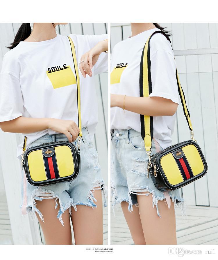 Ruil Frauen Taschen Farbe Spleißen kleine Biene Taschen Mode Reißverschluss Designer Handtasche Casual Schulter Messenger Bag New Sac Femme