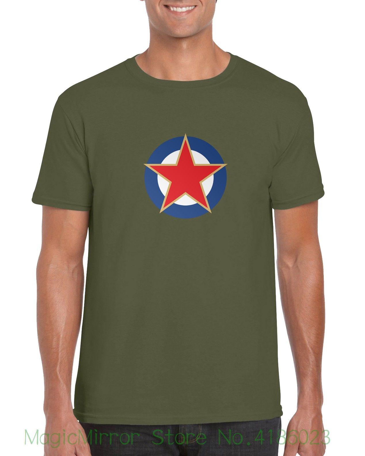 Acheter Yougoslavie Roundel Red Star Bleu Or Blanc Drapeau Rétro T Shirt T  Shirt Homme Casual Tees De  12.14 Du Magicmirrorstore   DHgate.Com 57b3f5ea4df