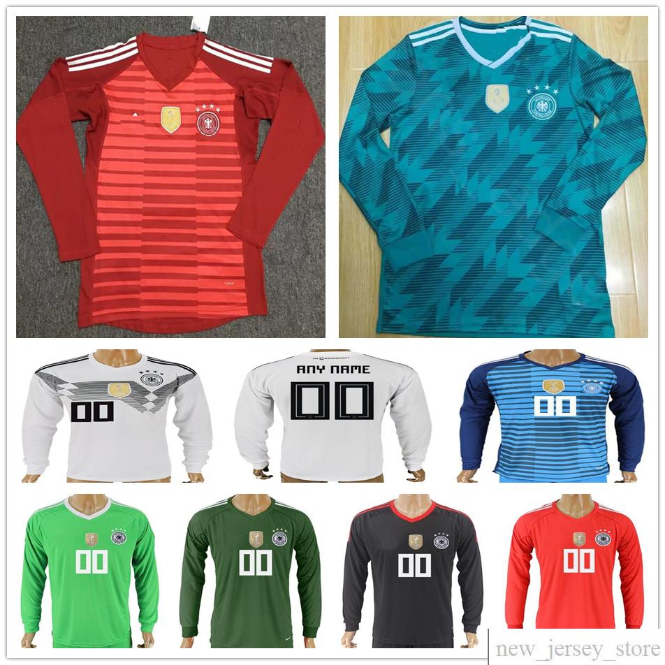 9c953bc43 ... best price 2018 2018 germany world cup long sleeve soccer jerseys  goalkeeper 1 neuer 22 ter