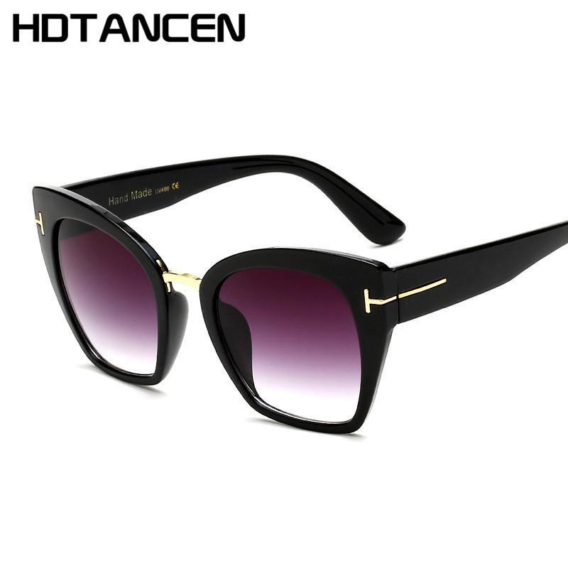 a5c27596ae Compre HDTANCEN Gradient Points Gafas De Sol Tom High Designer Designer  Marcas Para Mujeres Gafas De Sol Cateyes Oculos De Sol A $13.62 Del Wdrf |  DHgate.