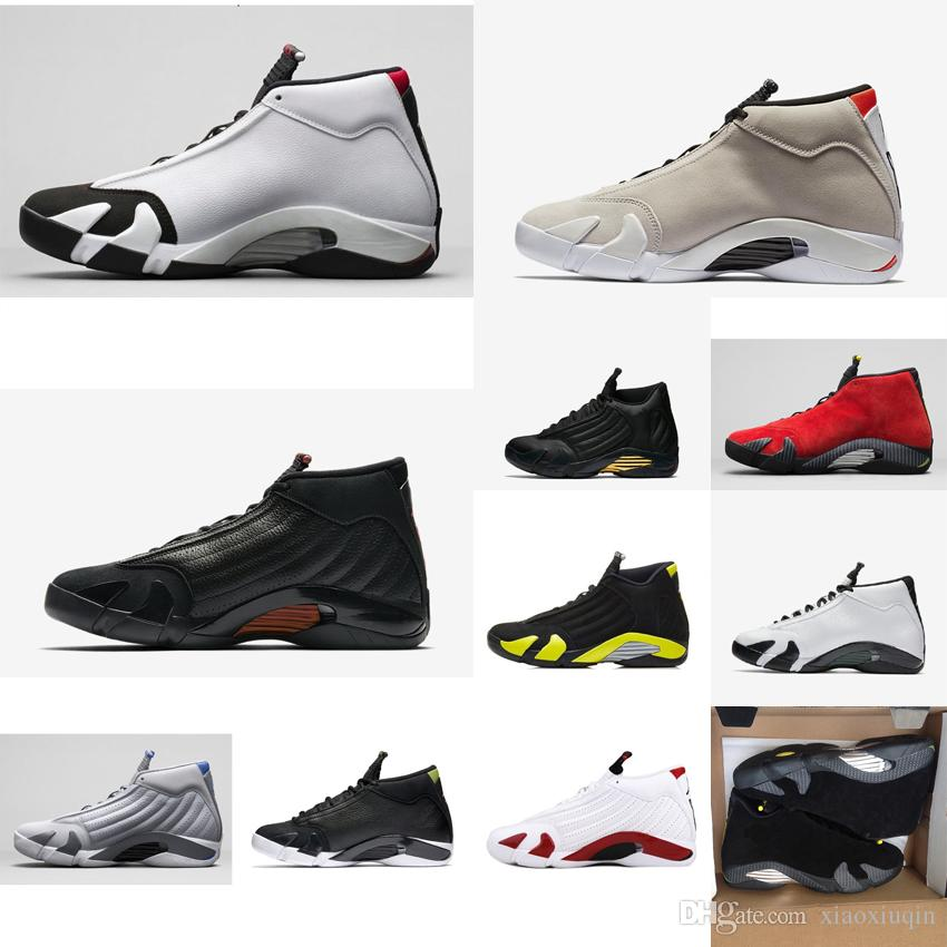 7f17dd9f1cdc18 2019 Cheap Men Retro 14s Basketball Shoes For Sale J14 Bred Last Shot Black  Toe Red Gold MVP Yellow DMP AJ14 Jumpman 14 Casual Sneakers With Box From  ...