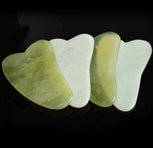 غواتيمالا الطبيعية شا مجلس اليشم الأخضر ستون Guasha علاج الوخز بالإبر تدليك أداة الوجه الجسم الاسترخاء الجمال أداة للرعاية الصحية