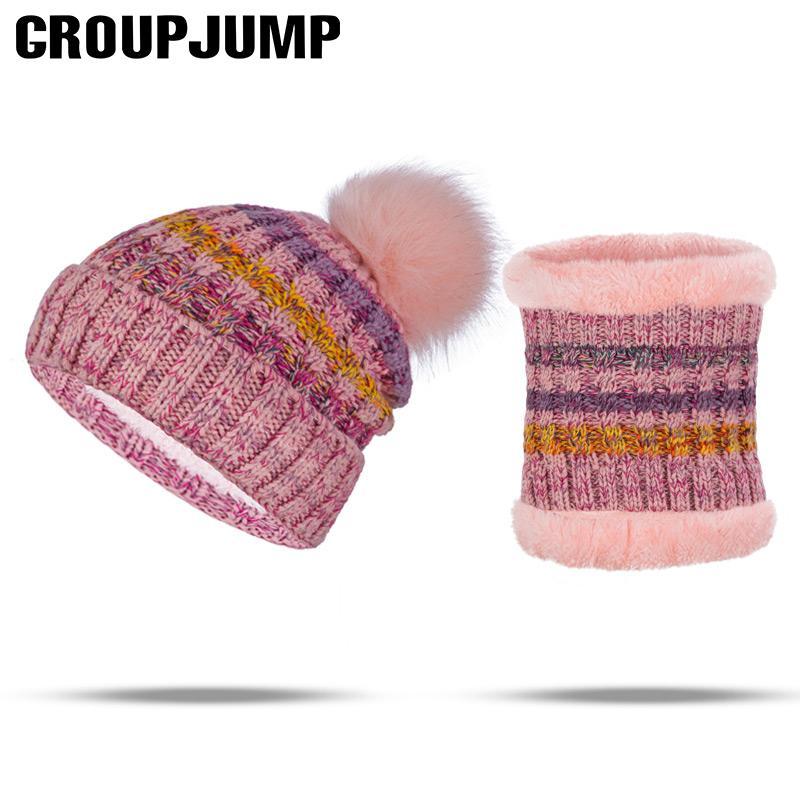 65203c21bd4 New Arrival Hat Scarf Set Women Pompoms Fur Winter Hat Scarf For ...