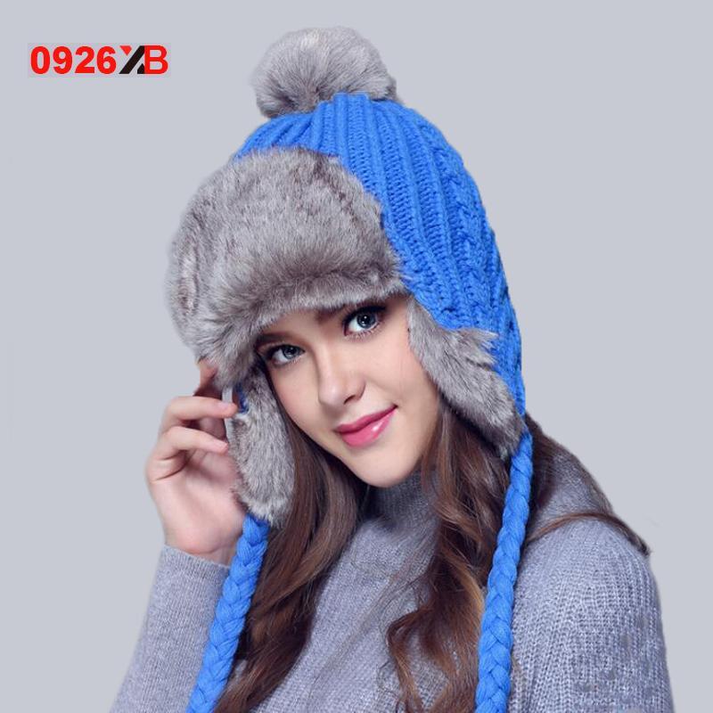 e7c6313d484 0926XB Winter Hat Bomber Hats For Men Women Thicken Balaclava Cotton ...