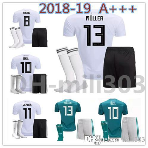 949ce32b5 2018 2019 World Cup MULLER OZIL REUS Germany Home Soccer Jersey Kits 18 19  WERNER GORETZKA KROOS DRAXLER GOTZE Away Football Shirts Uniforms World Cup  ...