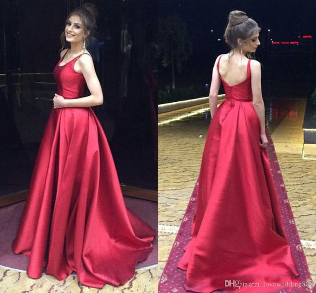 Vestidos largos elegantes en rojo