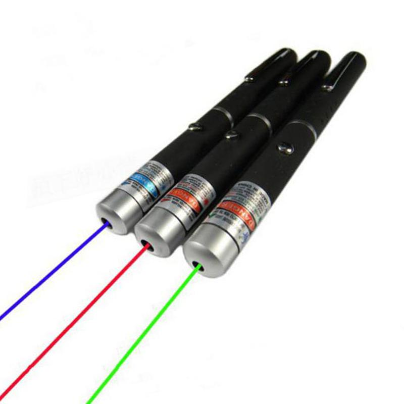 High Power Laser Pointer Red/Blue Violet /Green Laser 5mW Lazer Pen Visible Beam Light Powerful Without Battery