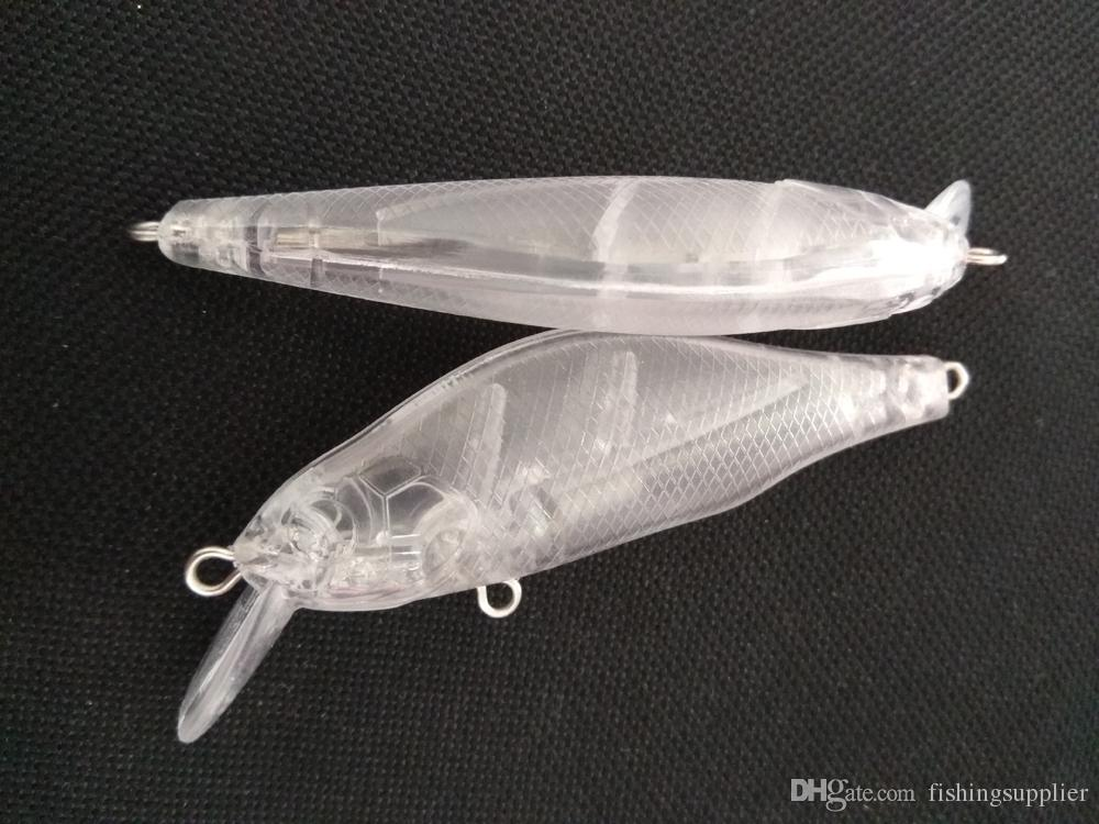 Unpainted Fishing Lure Body Weight Transfer Minnow Hardbaits Fishing Wobbler Artificial baits 3 1/8 Inch 7.5g Blank lures FFE2E7