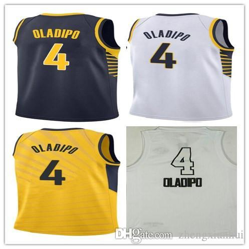 the best attitude ccd16 fd3e4 2018 All star Jersey 4 Victor Oladipo Maillot Hommes Jaune Marine Bleu  Blanc Couleur Oladipo Basketball Maillots Uniformes de Collège