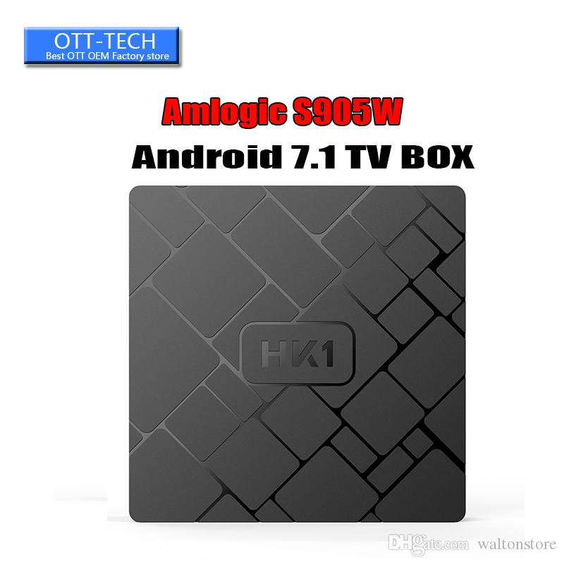 2018 HK1 Android 7.1 TV BOX Amlogic S905W 2GB 16GB 18.0 IPTV Media Player Better MXQ PRO TX3 X96 MINI TX3 S905W