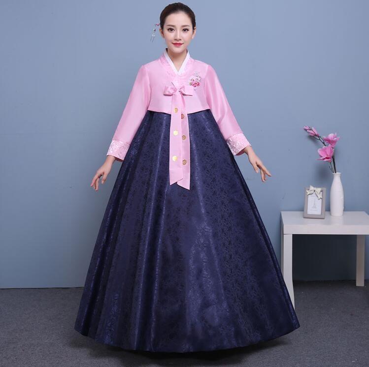 5fdf1756b3 2018 summer woman elegant Korean traditional Costume traditional wedding  lady clothing dance costume hanbok