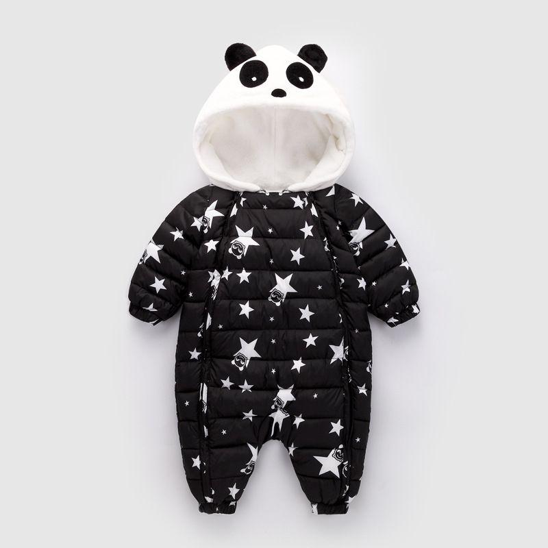 9db993f96 2019 Winter Baby Romper 0 1 2 Years Old Infant Cartoon Cute Panda ...