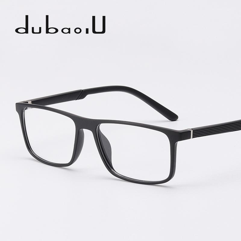 c082fd2131bea 2019 TR90 Spectacle Frame Men Fashion Rectangle Prescription Clear Optical  Computer Myopia Eyeglasses Frames High Quality  MZ01 09 From Pickled