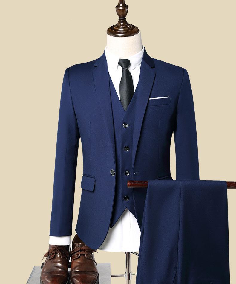 Compre Vino Verde Azul Negro Trajes De Los Hombres Del Novio Trajes De  Negocios Informal Formal Por Encargo 3 Piezas chaqueta + Pantalones +  Chaleco S01 A ... ab7c8022937f