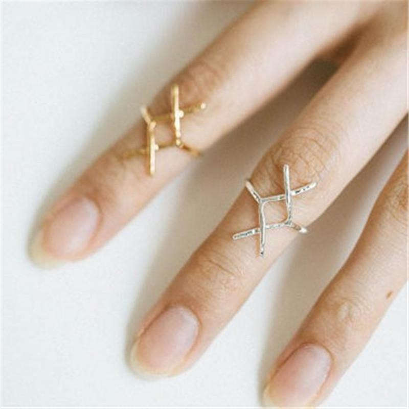 2018 The latest elements Hammered Statement Rune rings Gold-color rings for women wholesale and mixed color