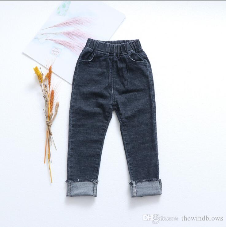 ccac98e4f5 2018 new wholesale girls boys denim pants spring fashion kids jean pants  1-6t ERT56