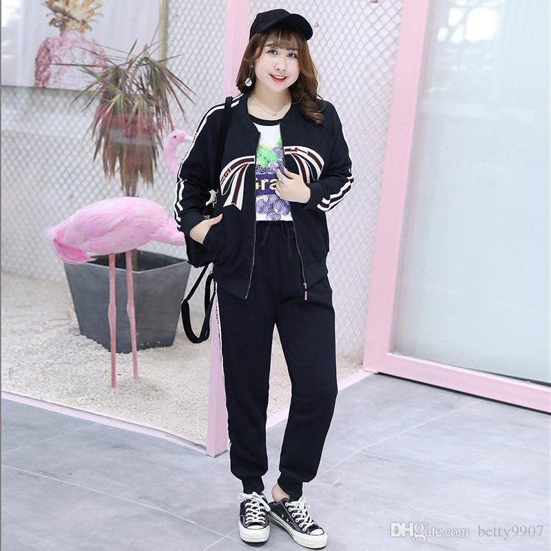 061ce22f599 Designer Tracksuit Women Clothes Sweatshirt Top Long Pants Two ...