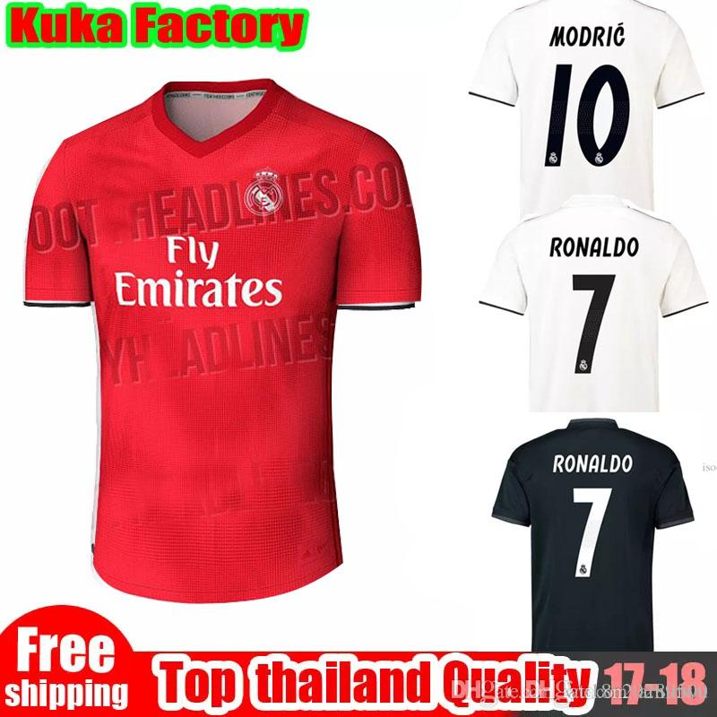 the latest 154bf dad54 Real madrid 2018 2019 soccer jerseys RONALDO ASENSIO MODRIC soccer jersey  football shirt BALE RAMOS Camiseta 18 19 real madrid maillot
