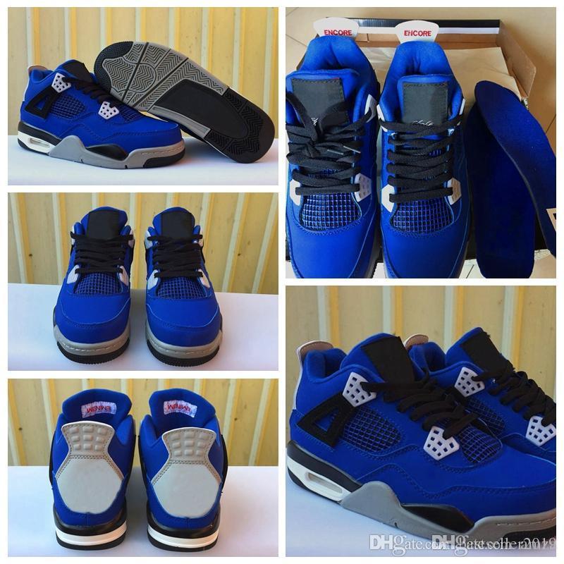 de9bfc05449091 2018 High Quality 4 Eminem Encore Blue Men Basketball Shoes 4s Blue ...