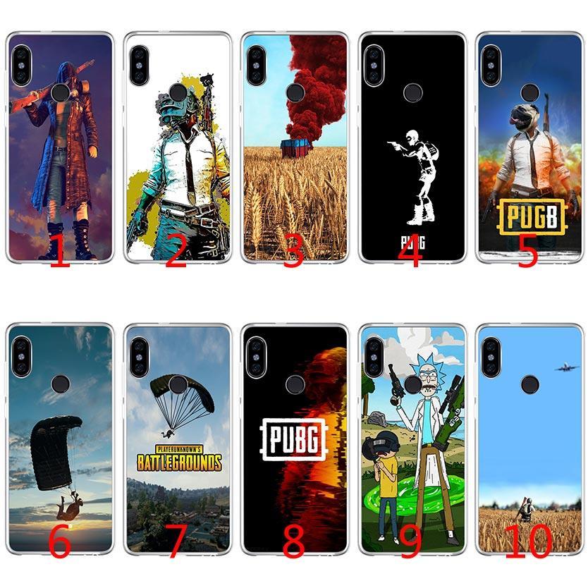 wholesale dealer 076d0 e2d9b PUBG Soft Silicone TPU Case for Xiaomi Redmi Note 4X 5 Pro 6 Pro 5A 4A S2 5  Plus Cover