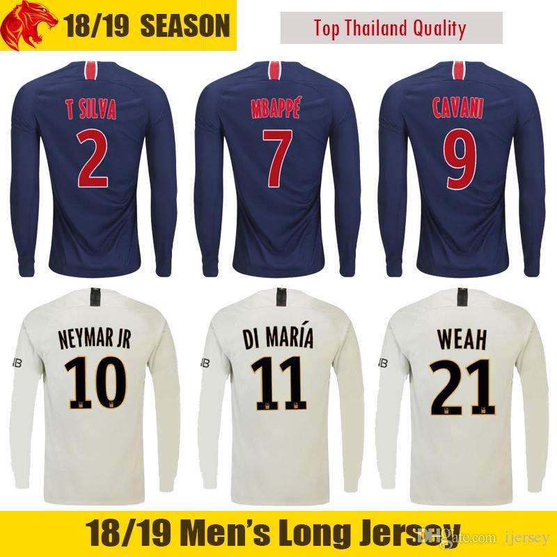 a236818a537df 18 19 MBAPPE Long Sleeve Soccer Jerseys 18 19 VERRATTI CAVANI Long ...