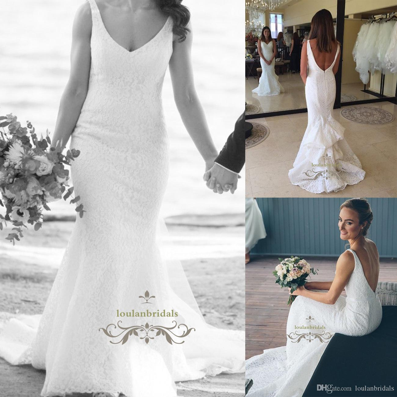 Beautiful Mermaid Beach Wedding Dress