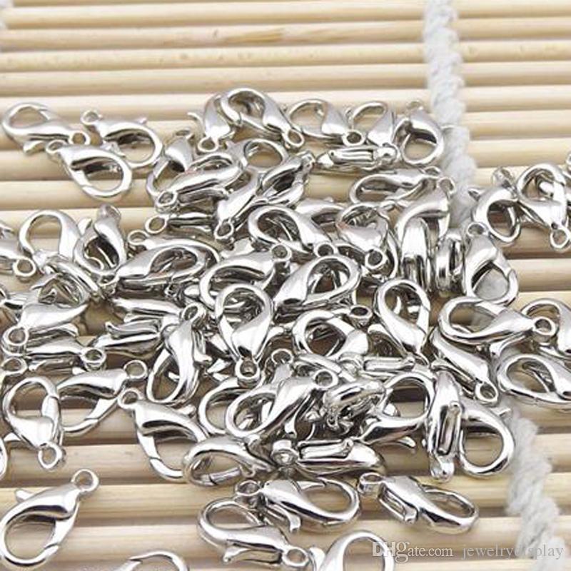 Silverpläterade metallklämmar Jewerly Making Tool Smycken Tillbehör Smycken Del DIY Craft 10mm 16mm /