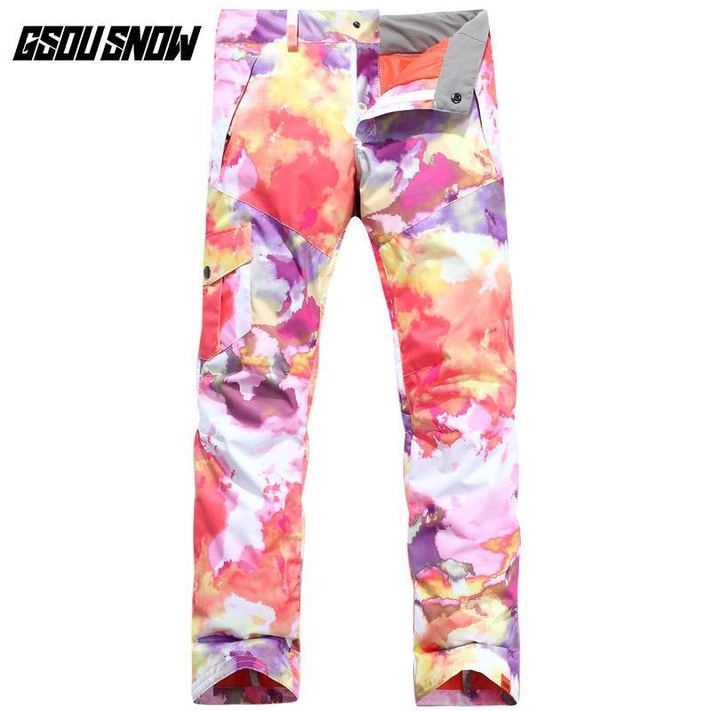 ae9c2a2142a GSOU SNOW Women s Single Double Board Polyester Ski Pants Outdoor ...