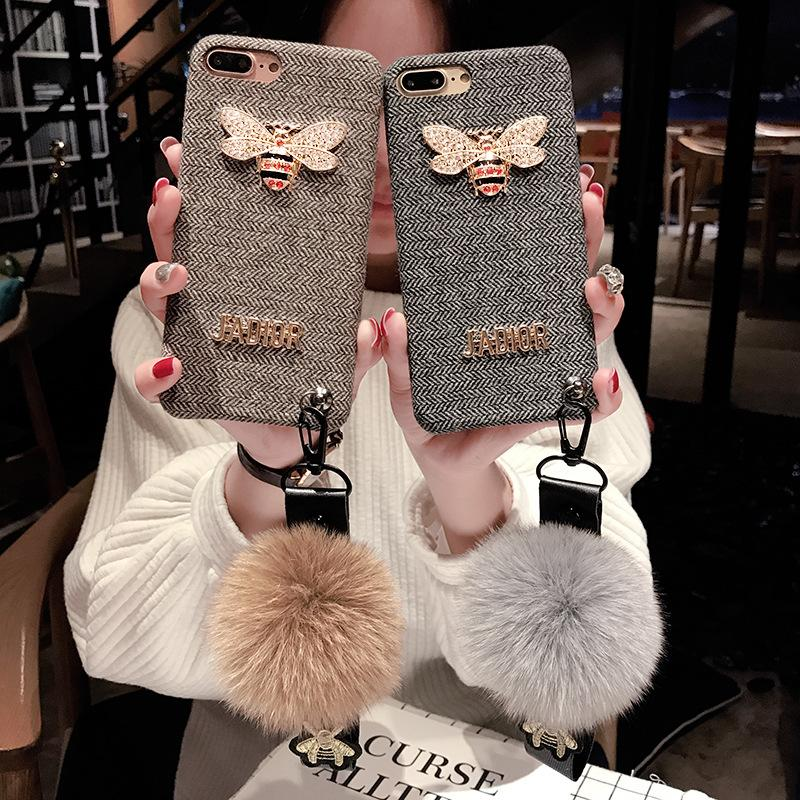 New Designer Fashion Brand Phone Case for IPhone X 6/6S 6plus/6S Plus 7/8 7plus/8plus 2018 New Arrival Hot Sale TPU Flannel Case 2 Styles